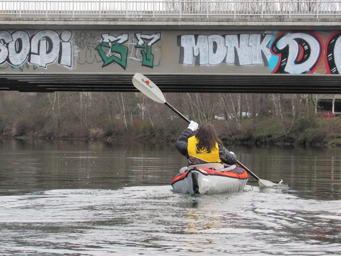 kayak, duwamish, grafitti