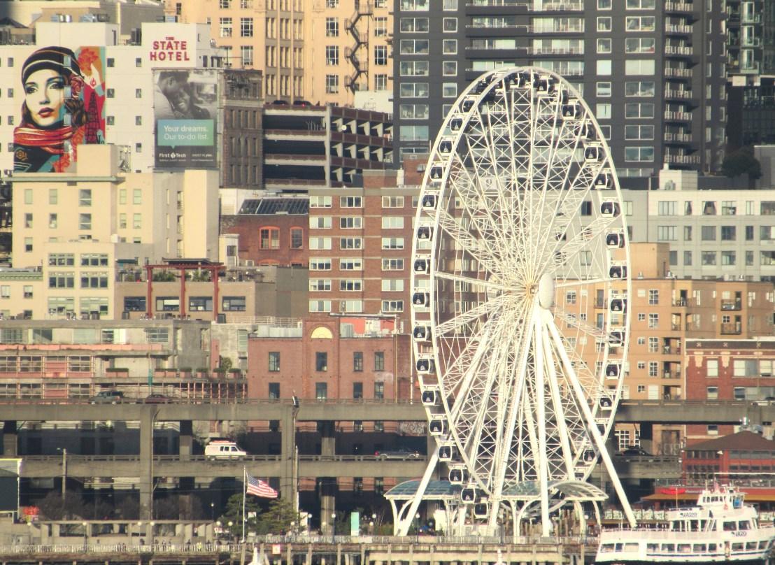 seattle wheel, viaduct